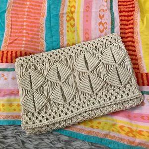 Vintage crochet clutch